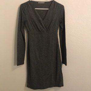 Gray Athleta dress false wrap